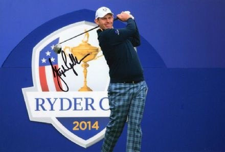 Stephen Gallacher, Ryder Cup 2014 Gleneagles, signed 12x8 inch photo.